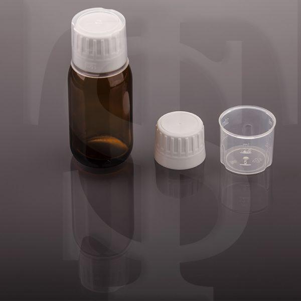 کپ دارویی ۲۸ فوم دار به همراه پیمانه ۱۵ سی سی مخصوص کپ ۲۸