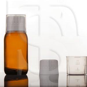 کپ دارویی ۲۸ فوم دار به همراه پیمانه ۱۵ سی سی مخصوص شیشه شربت