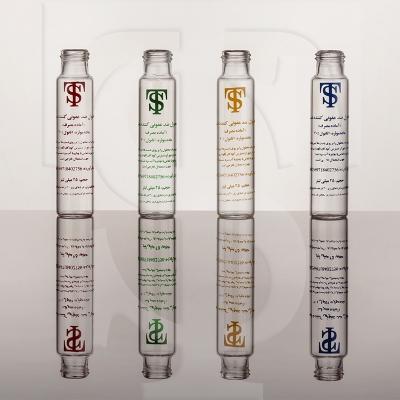 ویال های شفاف شیشه ایی در انواع سایزها به همراه چاپ رنگی به سفارش