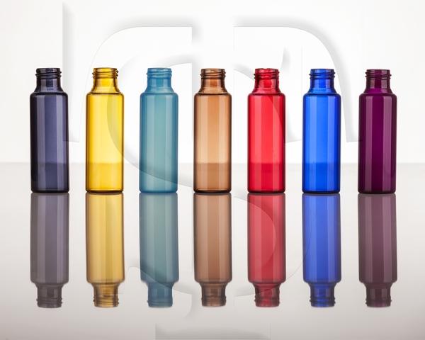 شفاگستران - شیشه های ویال رنگی از رنگ های ترنسپرنت
